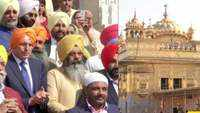 Former Australian PM Tony Abbott visits Golden Temple