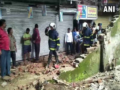 Part of Kurla railway station's boundary wall collapses; 4 hurt