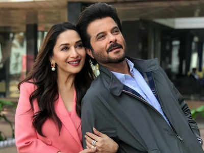 Anil celebrates 27 years of Beta with friend Madhuri