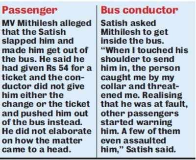 Shocking! BMTC conductor slapped me, threw me off bus: Student