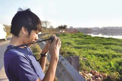 While lip service has kept netas and babus busy, this 14-year-old is going about trying to save Bellandur Lake