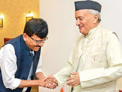 Maharashtra government formation: Sena MP Sanjay Raut meets Governor Koshyari, urged him to invite BJP to stake claim