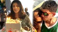 Priyanka Chopra celebrates her birthday with hubby Nick Jonas, cuts cake