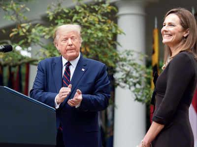 US Senate confirmation hearings for Barrett may begin on Oct 12, says Trump