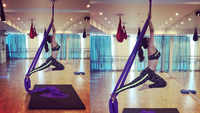 Urvashi Rautela's latest aerial yoga routine is no joke!