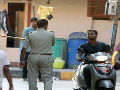 Covid-19 in Bengaluru: Police pick up lathis to clear the streets