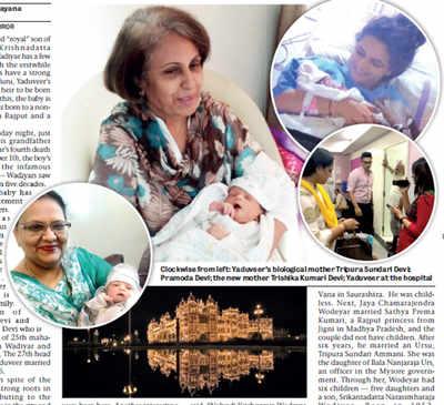 Wadiyar heir gives birth to many firsts