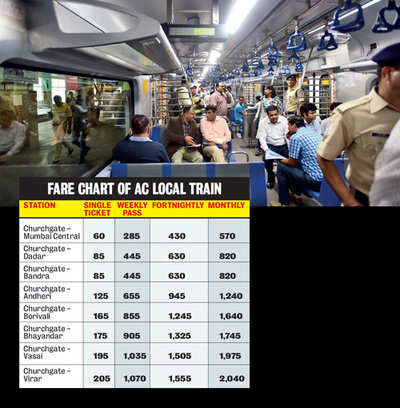 First AC local debuts with revised schedule today