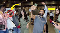 Watch: Janhvi Kapoor's bodyguard pushes a fan at airport