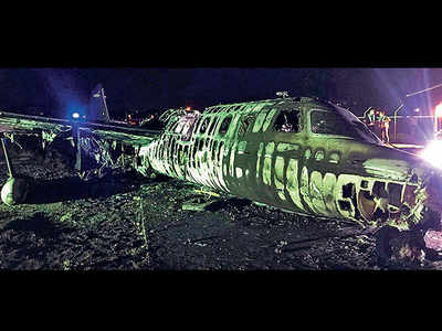Plane catches fire, all 8 aboard killed