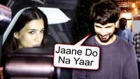 Shahid Kapoor gets awkward seeing paparazzi, Kriti Sanon ignores media