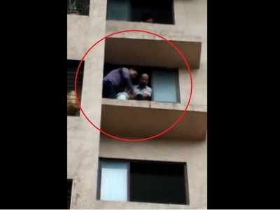 Video: Woman attempts suicide from 6th floor of Thane building