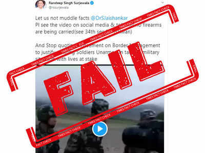 Fake alert: Randeep Surjewala shares old video to claim Indian Army had no firearms in recent Galwan faceoff