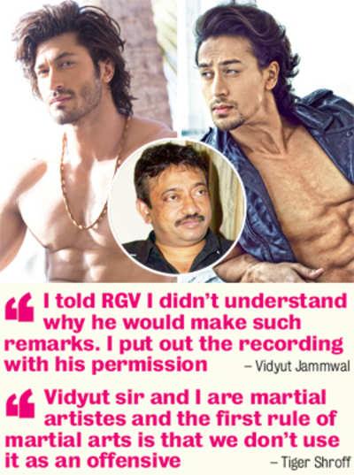 Ram Gopal Varma instigates Tiger Shroff and Vidyut Jammwal to a duel