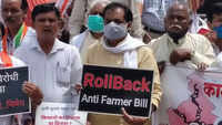 Nagpur: Opposition parties stage protest against Farm Law