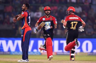 Highlights DD vs RCB: AB De Villiers, Virat Kohli take Royal Challengers Bangalore to victory