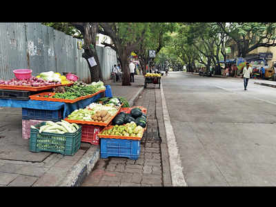 Veggies on spiral with APMC market shut