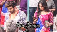 On location! Kartik Aaryan and Kiara Advani shoot in Mumbai for 'Bhool Bhulaiyya 2'