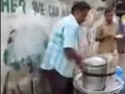 Watch: Idli vendor uses toilet water, FDA order enquiry