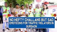 No hefty challans but sad emoticons for traffic violators in Gurgaon