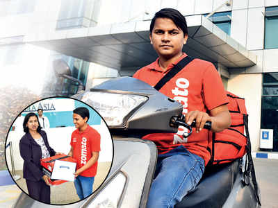 Zomato delivery man plays a role of ambulance, rushes choking 7-month-old to hospital