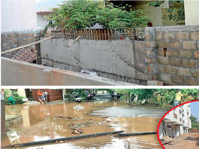 Why are the residents of NGEF layout afraid of rain?
