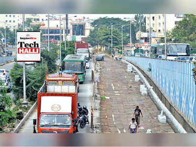 Techies face a tough time as white topping project on ORR is restricting flow of traffic towards KR Puram