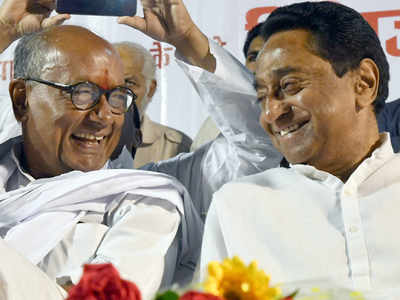 Kamal Nath backs Digvijaya Singh as state Cong chief