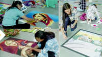 Diwali 2019: Women make 120 rangolis in Rajkot