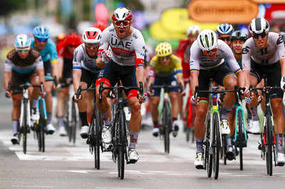 Delayed but alive, Tour de France sets off from Nice