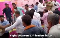 Watch: BJP leaders thrash each other
