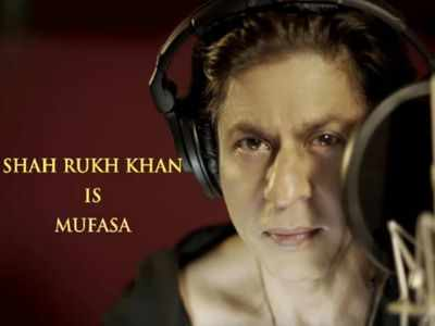 The Lion King: Shah Rukh Khan shares a glimpse of dubbing for his character Mufasa