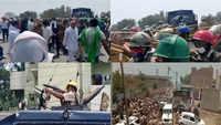 Haryana: Farmers, police clash at Hisar at CM Khattar's event