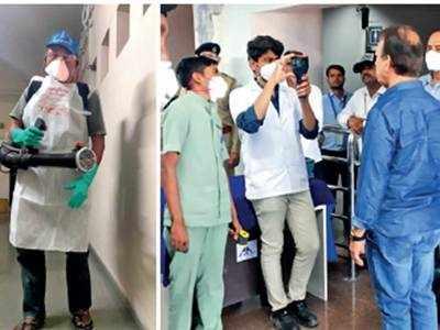 AMC begins fogging homes of quarantined patients