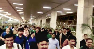Air India passengers stranded at Delhi airport all night