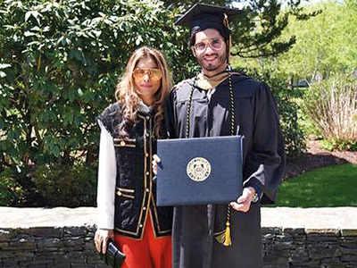 Roohi and Chetan Jaikishan's son Amaan graduates from Bryant University