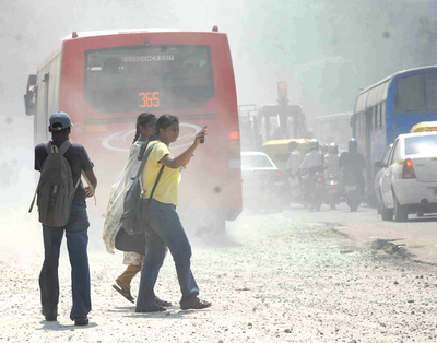 Each BMTC bus picks up about 2 kg of fine dust in just 8-10 hours on the Bengaluru roads