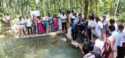 Karnataka: Dakshina Kannada learning to fish in check dam water
