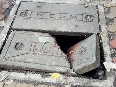 Repair broken manhole covers immediately
