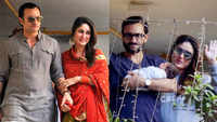 Throwback Thursday! Kareena Kapoor and Saif Ali Khan's first public picture as a couple and introduction of newborn Taimur