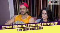 Nach Baliye 9's Aly Goni and Natasa Stankovic prepping up for their finale act