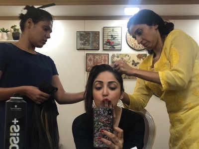 Yami Gautam begins shooting for Bala in Mumbai