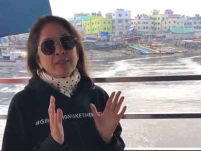 Neena Gupta is making the most of the Mumbai weather