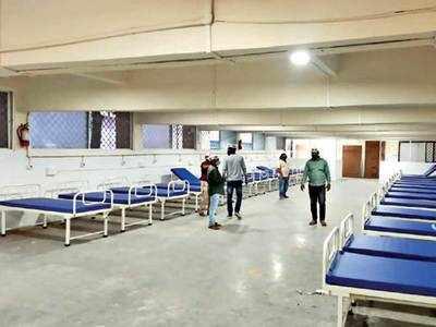 200-bed medical unit lying unused