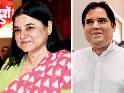 BJP swaps seats between Maneka and son Varun