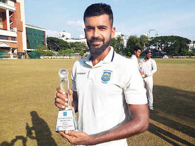 Reunited to cricket, Palkar makes it count with all-round performance