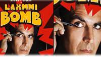 Akshay Kumar applies Kajal in 'Laxmmi Bomb' poster