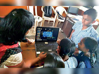 Now, laptops for poor students in district