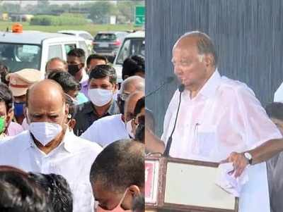 Exactly a year after seeking votes in pouring rain, Sharad Pawar consoles flood victims