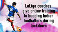 LaLiga-certified coaches give online training sessions to budding footballers